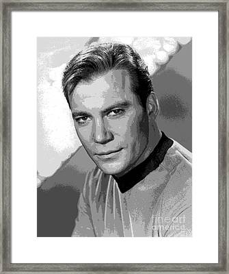 Star Trek William Shatner Pre 1970 Framed Print by R Muirhead Art