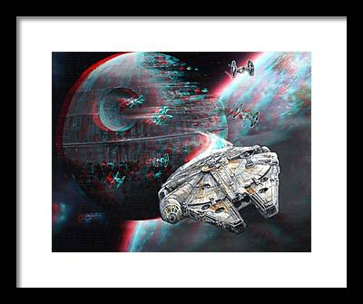 Anaglyph Paintings Framed Prints
