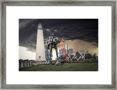 Star Wars All Terrain Armored Transport Framed Print by Nicholas  Grunas
