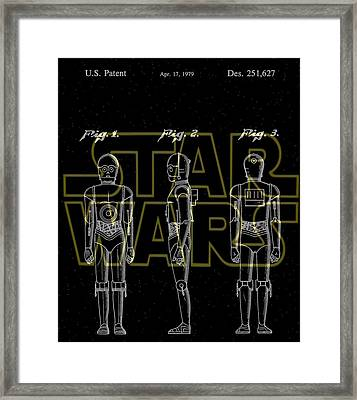 Star Wars C-3po Patent Framed Print by Dan Sproul