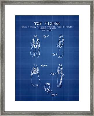 Star Wars Darth Vader Patent From 1982 - Blueprint Framed Print