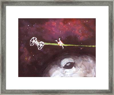 Star Wars Dog Fight Framed Print by Paul Mitchell