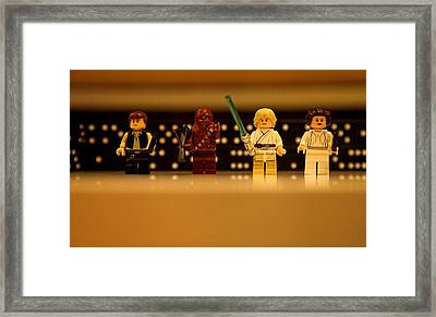 Star Wars Heros Framed Print