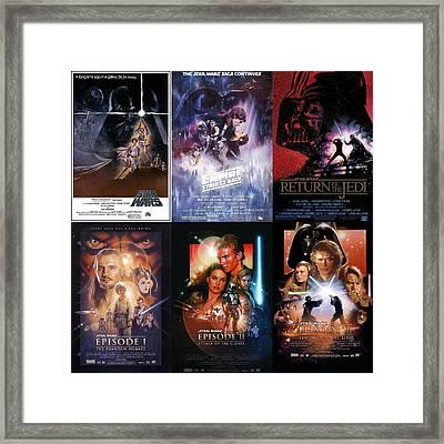 Star Wars  Framed Print by Georgia Fowler