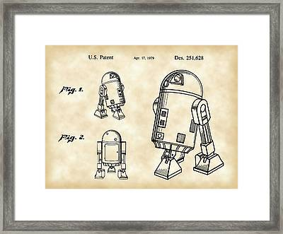 Star Wars R2-d2 Patent 1979 - Vintage Framed Print by Stephen Younts