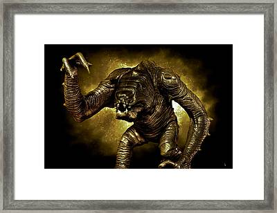 Star Wars Rancor Monster Framed Print by Nicholas  Grunas