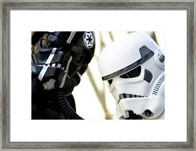Star Wars Stormtrooper Closeup Framed Print