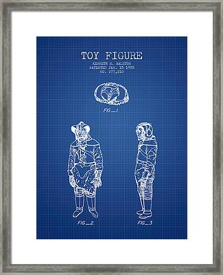 Star Wars Toy Figure No3 Patent Drawing From 1985 - Blueprint Framed Print