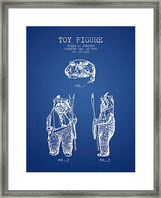 Star Wars Toy Figure No4 Patent Drawing From 1985 - Blueprint Framed Print