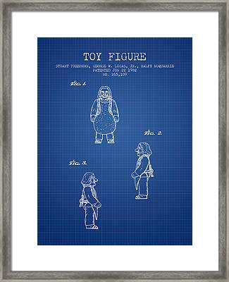 Star Wars Toy Figure Patent Drawing From 1982 - Blueprint Framed Print