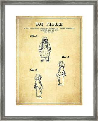 Star Wars Toy Figure Patent Drawing From 1982 - Vintage Framed Print