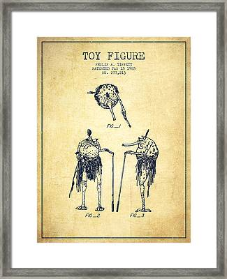 Star Wars Toy Figure Patent Drawing From 1985 - Vintage Framed Print