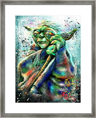 Star Wars Yoda Framed Print by Daniel Janda