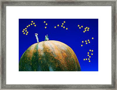 Framed Print featuring the photograph Star Watching On Pumpkin Food Physics by Paul Ge