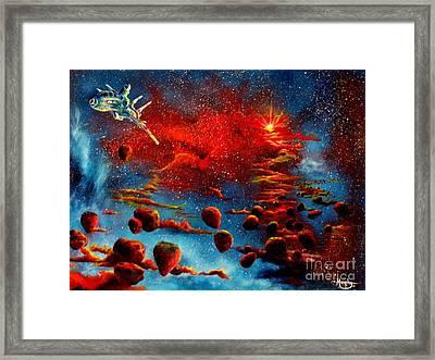 Starberry Nova Alien Excape Framed Print by Murphy Elliott