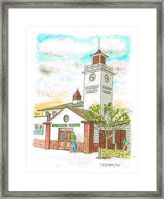 Starbucks Coffee At Farmers Market In Fairfax Ave And 3rh Street - Los Angeles - California Framed Print