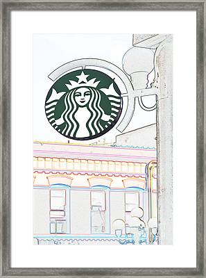 Starbucks Framed Print