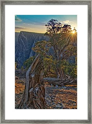 Starburst At Painted Wall Framed Print