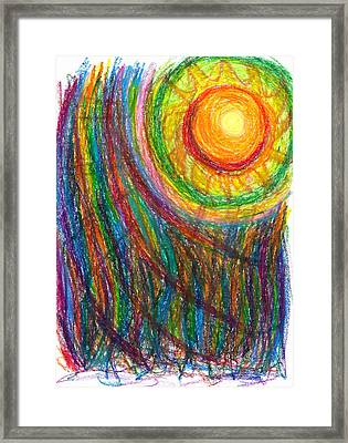 Starburst - The Nebular Dawning Of A New Myth And A New Age Framed Print