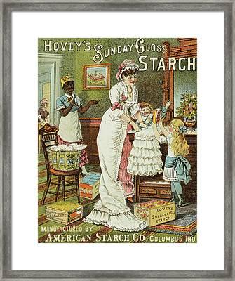 Starch Trade Card, C1880 Framed Print by Granger