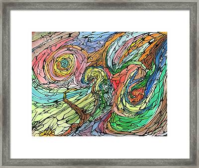 Starchild Framed Print by Justin Boivin