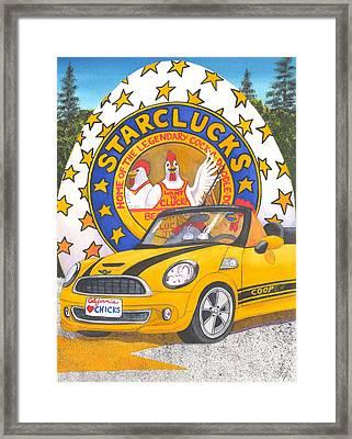 Starclucks Framed Print by Catherine G McElroy
