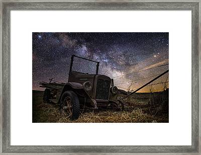 Stardust And  Rust Framed Print by Aaron J Groen
