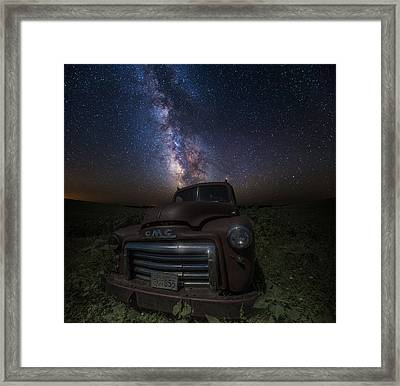 Stardust And Rust Gmc  Framed Print by Aaron J Groen