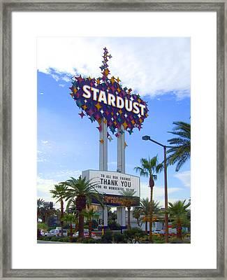 Stardust Sign Framed Print by Mike McGlothlen