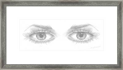 Stare Framed Print by Terry Frederick
