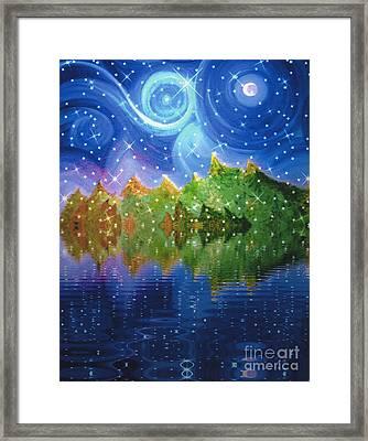 Starfall Framed Print by First Star Art