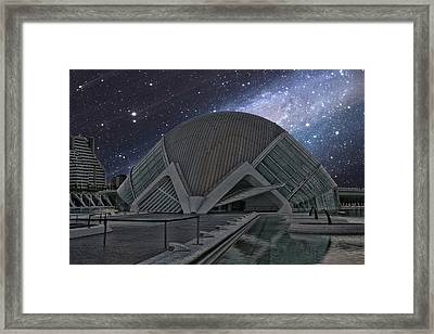 Starfall On Planetary Framed Print