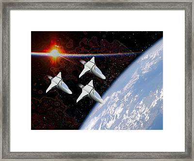 Starfighters Framed Print by Piero Lucia