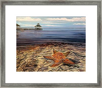 Starfish Drifting Framed Print
