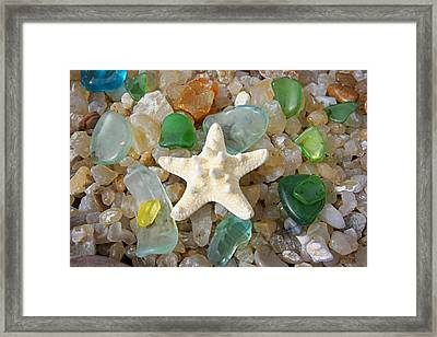 Starfish Fine Art Photography Seaglass Coastal Beach Framed Print