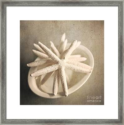 Framed Print featuring the photograph Starfish In A Bowl by Sylvia Cook