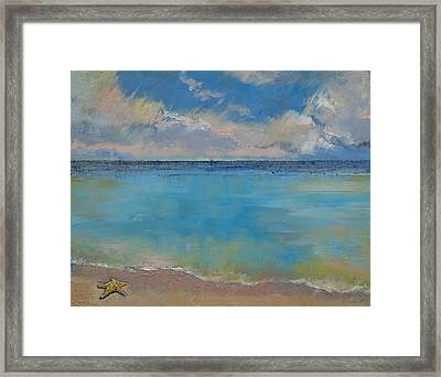 Starfish Framed Print by Michael Creese