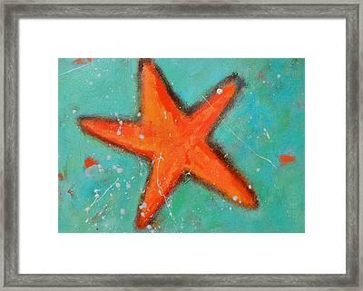 Starfish Framed Print by Patricia Awapara
