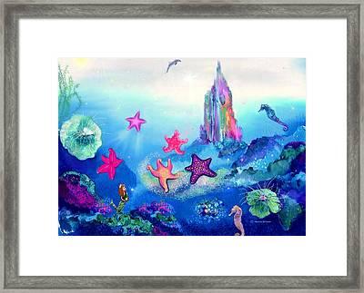 Starfish Play Framed Print