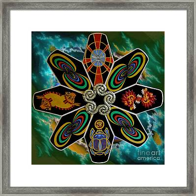 Stargate The Door Of Time. Framed Print by Anna Maria Guarnieri