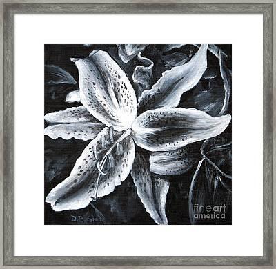 Stargazer Lilly Framed Print