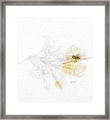 Stargazer Lily Heavenly Scent And The Bee Framed Print