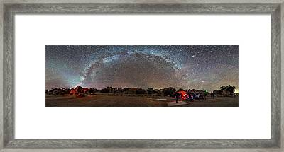 Stargazing At City Of Rocks State Park Framed Print by Alan Dyer