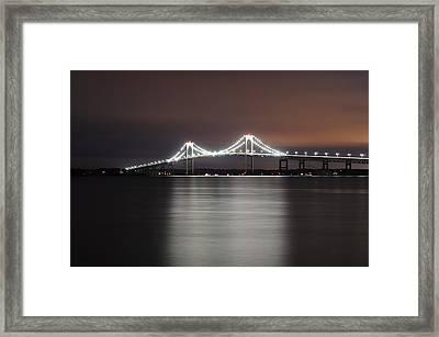 Stargazing In Newport Framed Print by Luke Moore