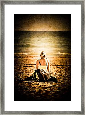 Staring At The Horizon Framed Print by Loriental Photography