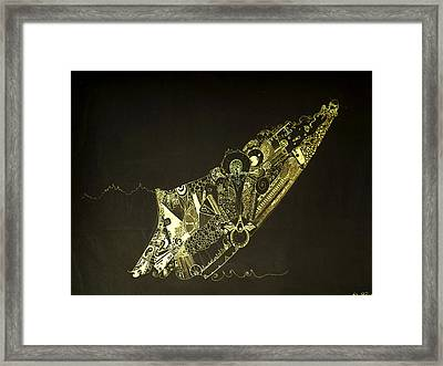 Staring At The Unknown Framed Print by Guillermo De Llera