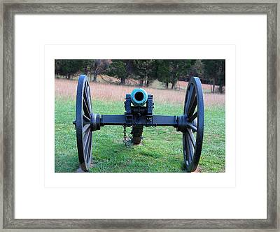 Staring Down The Barrel Framed Print