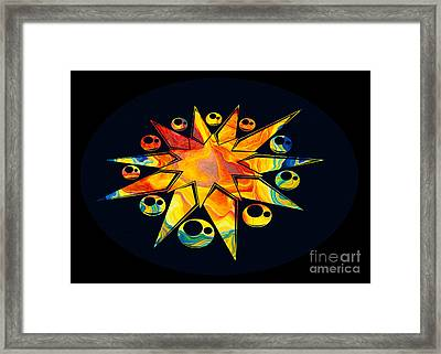 Staring Into Eternity Abstract Stars And Circles Framed Print