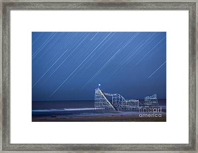 Starjet Under The Stars Framed Print by Michael Ver Sprill