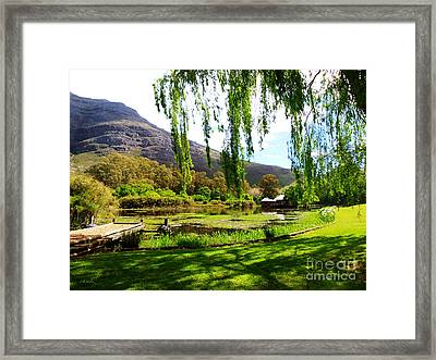 Stark Conde Wine Estate Stellenbosch South Africa Framed Print by Charl Bruwer